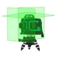 Nivel láser (verde) 3D. 12 líneas de proyección. Autonivelable