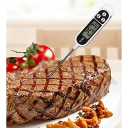 Termómetro digital de sonda para carnes y alimentos